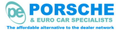 PE Porsche garage logo